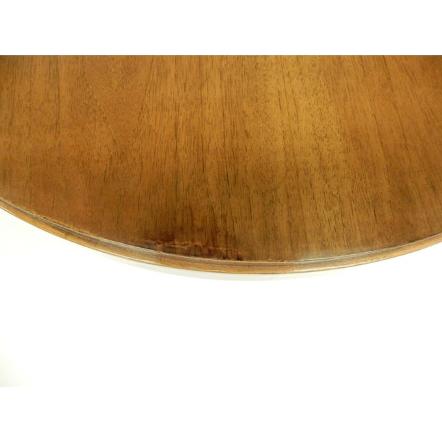 1930s Art Deco Round Walnut Side Table For Sale - Image 5 of 10