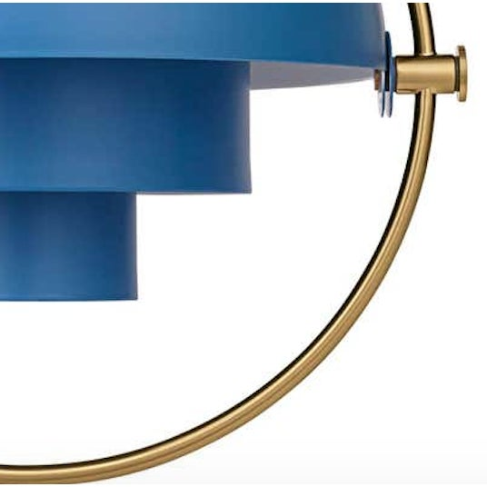 Mid-Century Modern Louis Weisdorf 'Multi-Lite' Pendant Lamp in Blue For Sale - Image 3 of 5