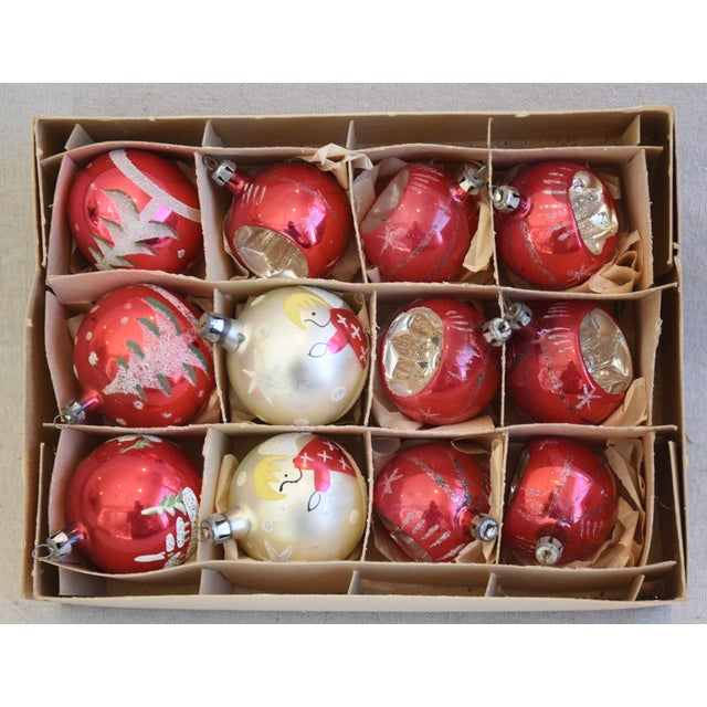 Adirondack Vintage Colorful Christmas Ornaments W/Box - Set of 12 For Sale - Image 3 of 10