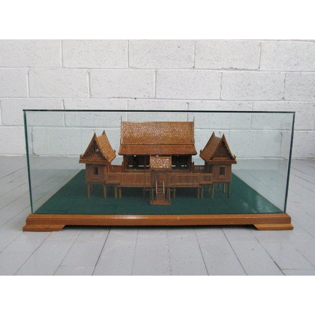 Asian Architectural Model of a Japanese House in Glass Case For Sale - Image 3 of 10