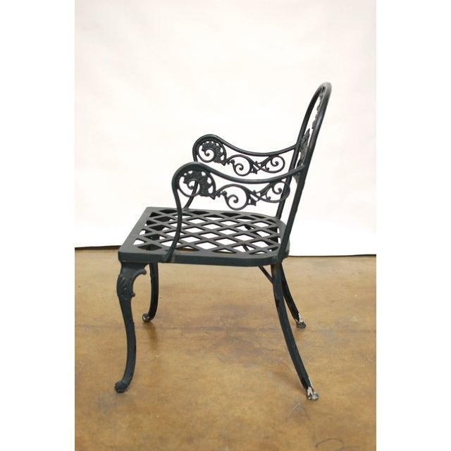 Vintage Cast Aluminum Garden Chairs - Image 3 of 6