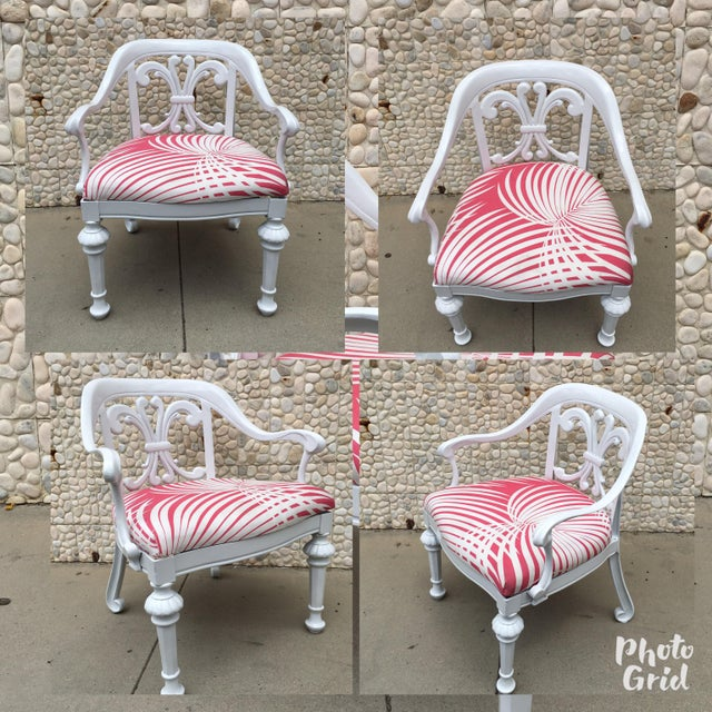 White Set of 4 Dorothy Draper Rare Patio Chairs Made by Kessler For Sale - Image 8 of 9