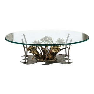 Copper & Steel Floral Coffee Table