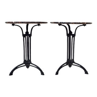French Bistro Gueridon End Table For Sale