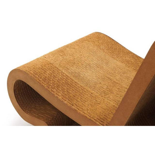 Brown Rare Original Frank Gehry, Easy Edges, Cardboard Contour Chair For Sale - Image 8 of 10