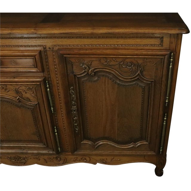 Wood Sideboard Normandy Antique French 1890 Carved For Sale - Image 7 of 11