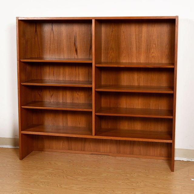 Danish Modern Teak Adjustable Bookcase / Display Cabinet Top For Sale - Image 4 of 7