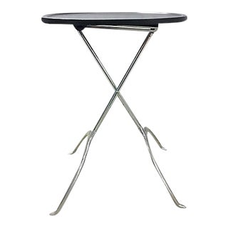 Vintage Sculptural Folding Side Table