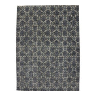 New Contemporary Area Rug With Transitional Style and Teardrop Pattern - 09'10 X 13'10 For Sale