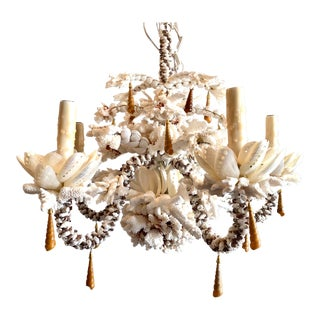 Custom Shell Chandelier For Sale