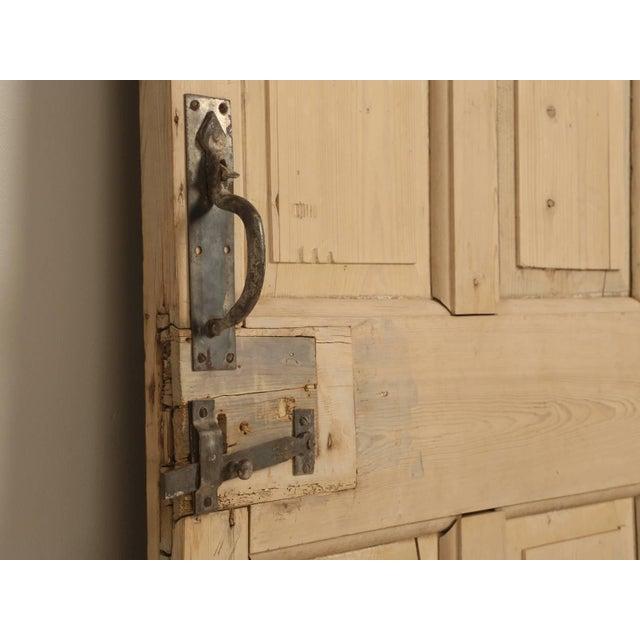 Late 19th Century Antique Irish Scrubbed Pine Interior Door For Sale - Image 5 of 10