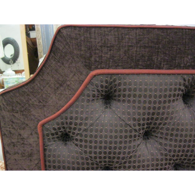Custom Upholstered Full Size Headboards - Pair - Image 4 of 9
