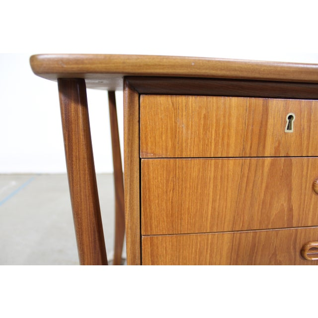 Mid-Century Danish Modern Svend Aage Madsen Teak Desk For Sale - Image 10 of 12