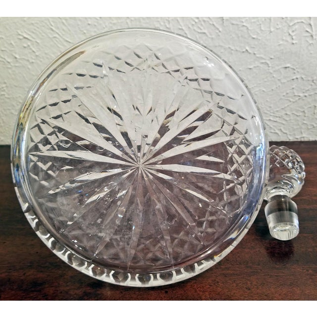 Vintage Irish Waterford Crystal Ships Decanter With Solid Silver Wine Label For Sale - Image 11 of 13