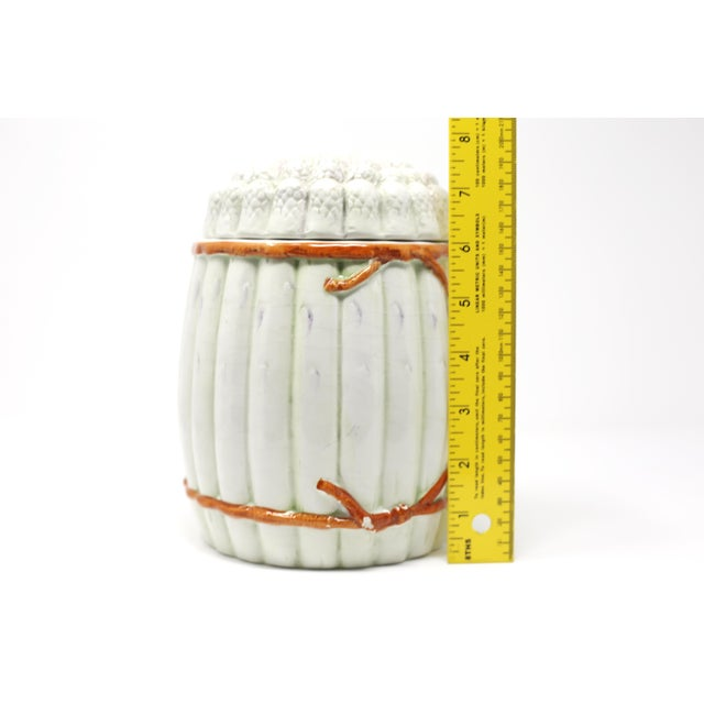 Vintage Italian White Asparagus Jar or Canister For Sale - Image 12 of 13