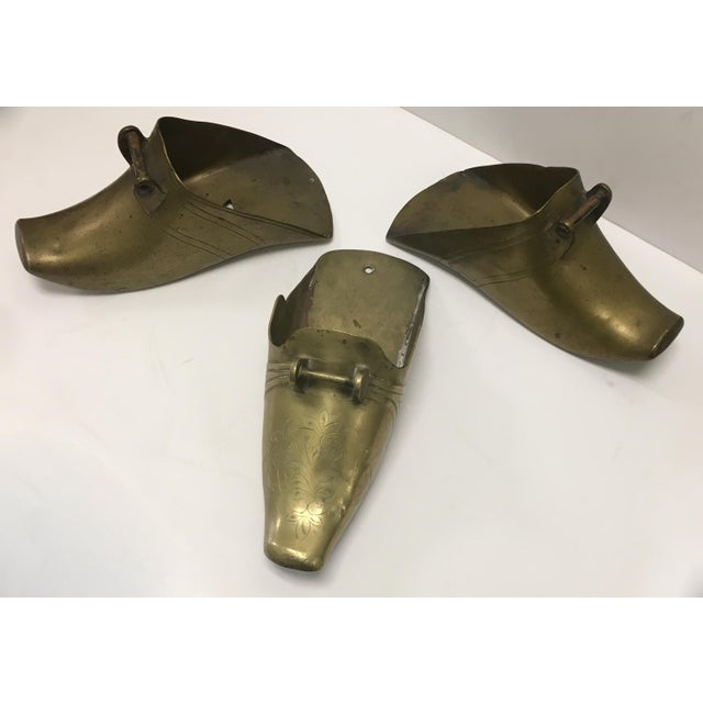 Metal 19th Century Spanish Colonial Conquistador Brass Stirrups, Set of Three For Sale - Image 7 of 8