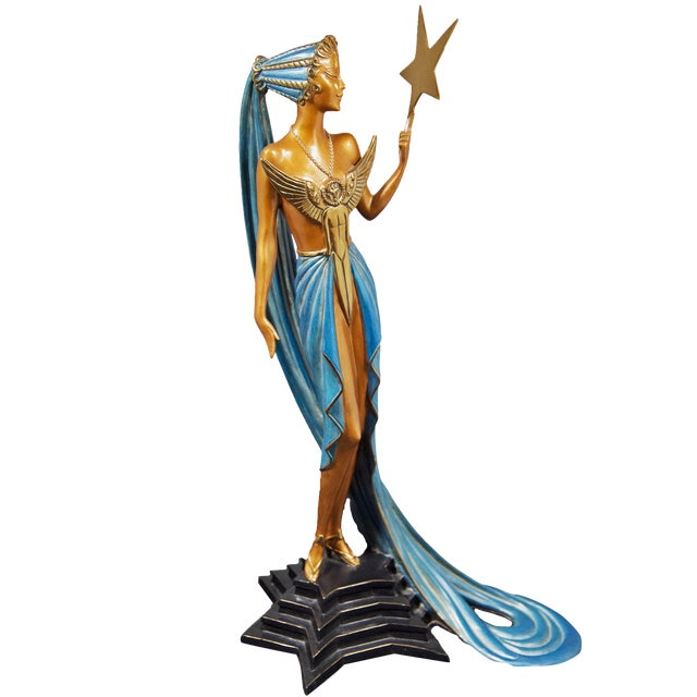 """""""Astra"""" Limited Edition Bronze Statuette by Erte For Sale"""