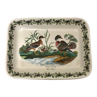 1970s Portmeirion Wood Duck Serving Tray For Sale