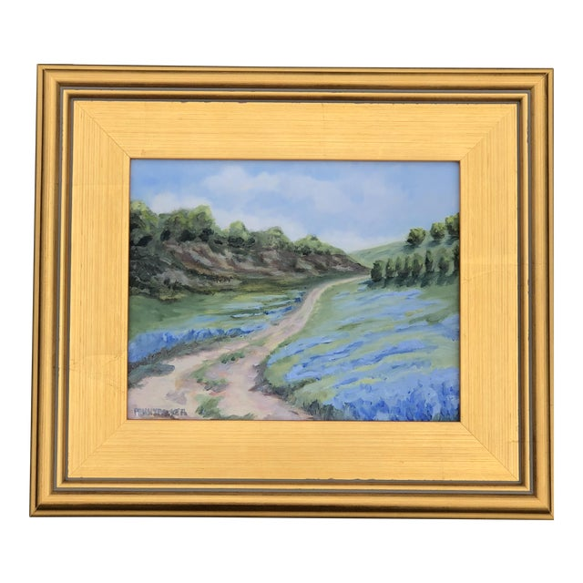 """""""Lupine Roads"""" Small Oil Landscape Painting For Sale"""