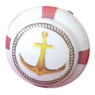 Anchor With Life Ring Decoupage Knob For Sale