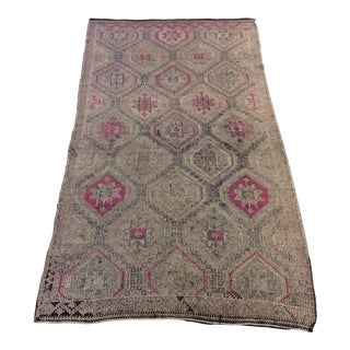 "1860's Turkish Kilim - 4'6""x8'5"" For Sale"
