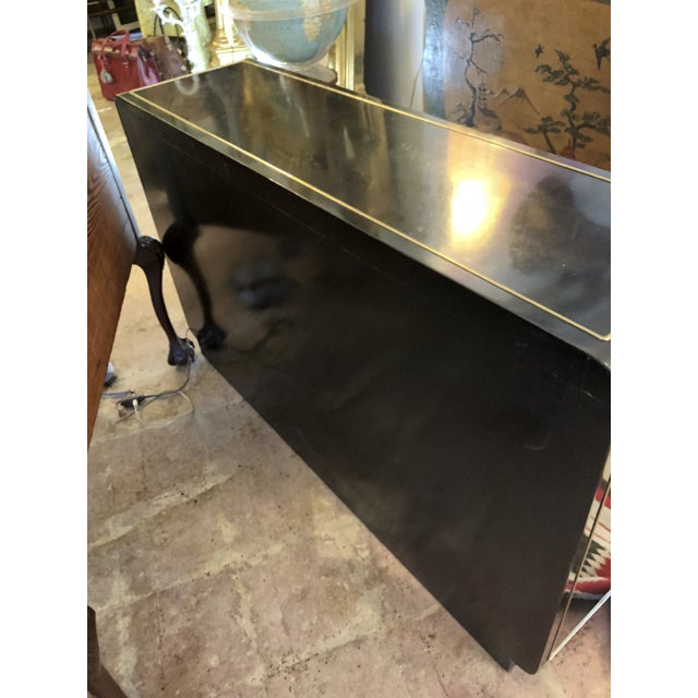 Black Lacquer Mastercraft Console Cabinet For Sale - Image 10 of 13