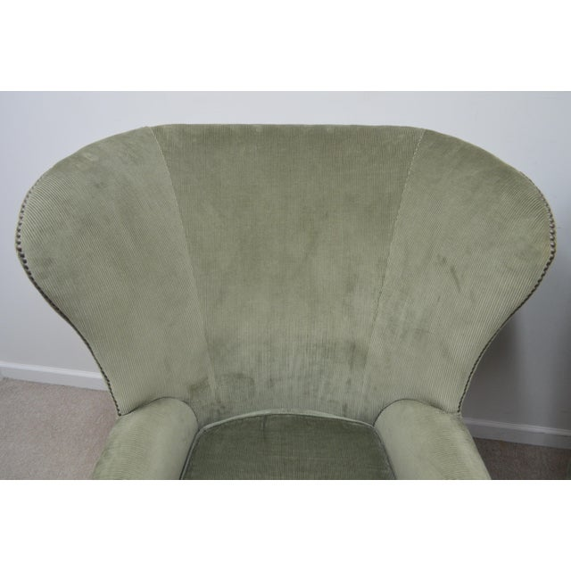 Late 20th Century Pair Ralph Lauren Upholstered Arm Chairs For Sale - Image 5 of 11