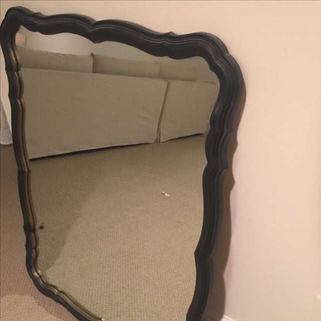 Traditional Black and Gold Scalloped Mirror - Image 4 of 11