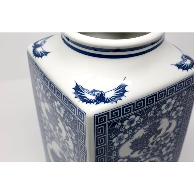 Japanese Large Blue and White Planter Vessel For Sale - Image 4 of 11