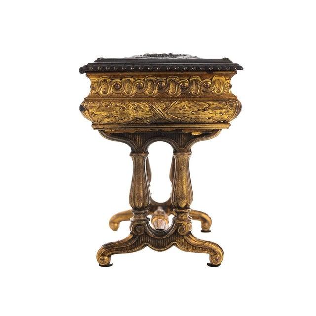 19th century Antique Gilt Bronze Jewelry Box- Miniature Sawing Box - Image 3 of 9