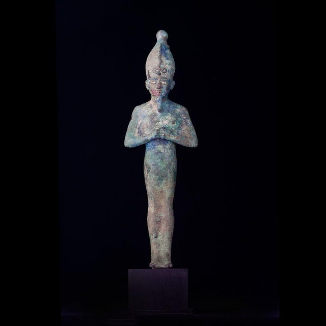 Egyptian Bronze Figure of Osiris, Late Dynastic Period For Sale - Image 4 of 4