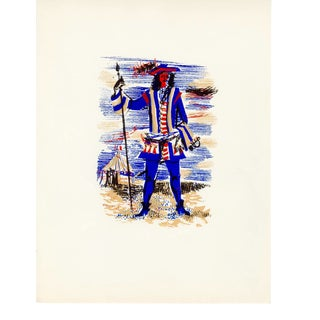 """""""People of Versailles"""", Limited Edition Serigraph Circa 1952 (2) For Sale"""