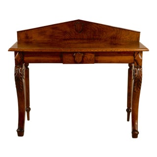 19th C Victorian Console Table For Sale