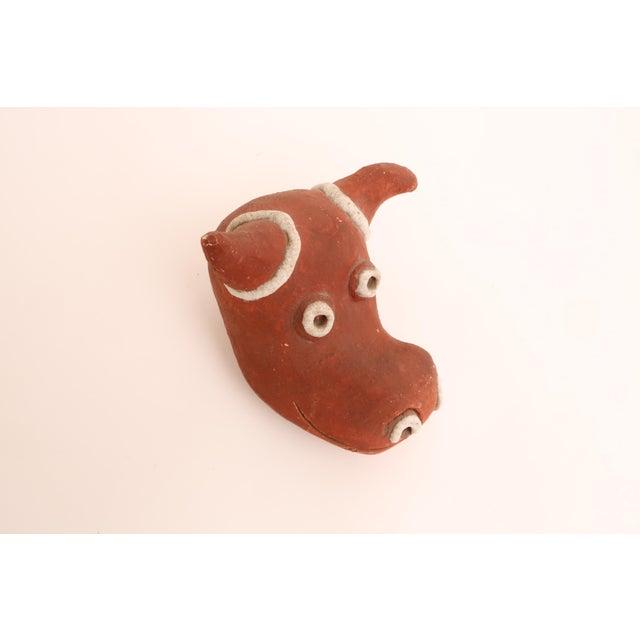 Ceramic Folk Art Mid-Century Modern Handmade Studio Pottery Bull For Sale - Image 7 of 7