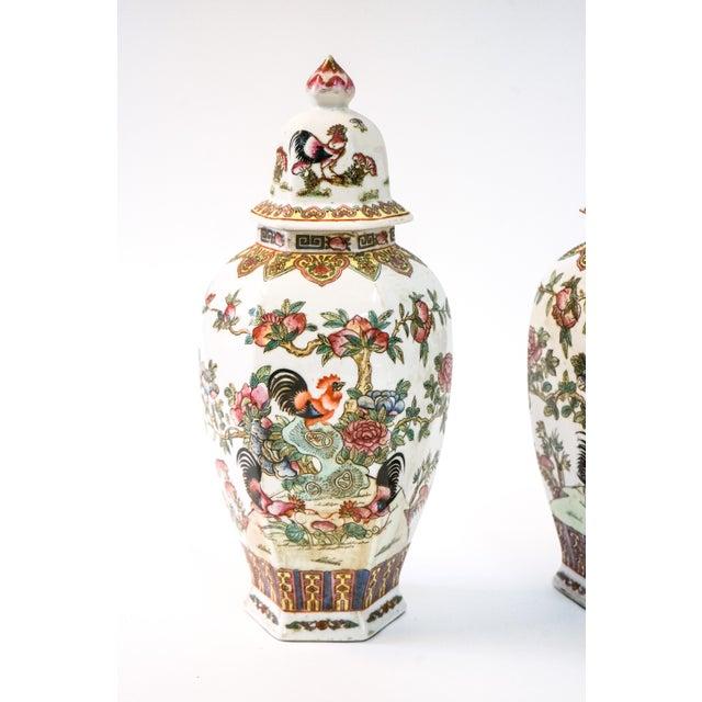 Ceramic Canton Porcelain Jars, circa 1950 - A Pair For Sale - Image 7 of 8