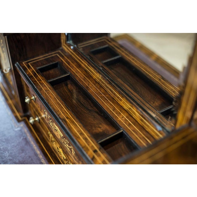 Brown 19th Century Lady's Desk Veneered with Rosewood For Sale - Image 8 of 13