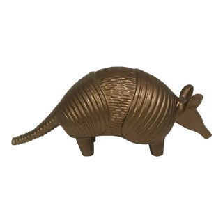 Modern Bronze Finish Armadillo Paper Weight For Sale