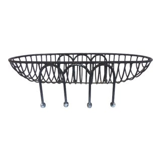Mid-Century Modern Substantial French Style Iron Basket or Planter