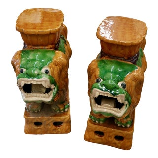 Vintage Ceramic Asian Foo Dogs