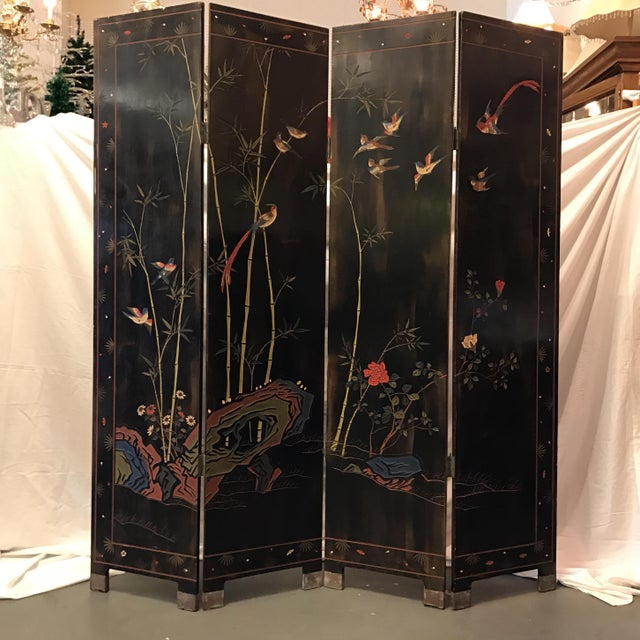 Vintage Or Antique Japanese 4 Panel Room Divider Chairish