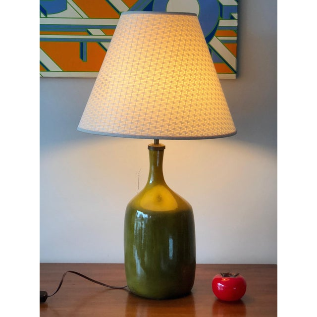 1960s Vintage Jacques & Dani Ruelland Ceramic Lamp For Sale - Image 9 of 12