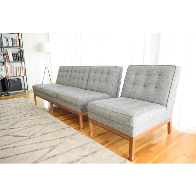 Custom Gray Modern Sofa - Image 4 of 7