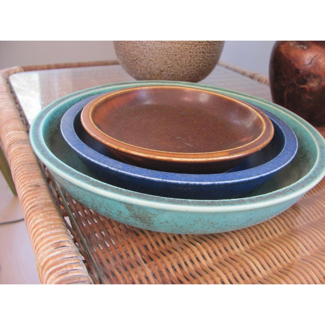 20th Century Rustic Saxbo Eva Staehr Nielsen Ceramic Nesting Bowls - Set of 3 For Sale - Image 13 of 13