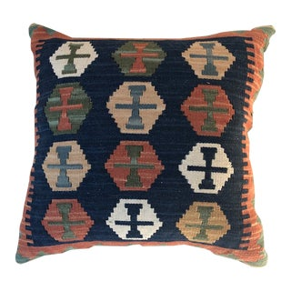"Southwestern Design Wool Square Pillow - 18"" x 18"" For Sale"