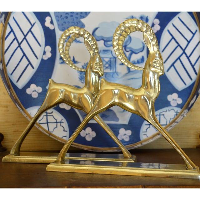 Ibex Brass Figurines - Pair - Image 7 of 11