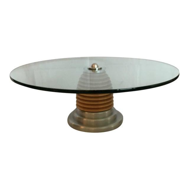 Vintage Mid Century Modern Postmodern J. Wade Beam for Brueton Coffee Cocktail Table For Sale