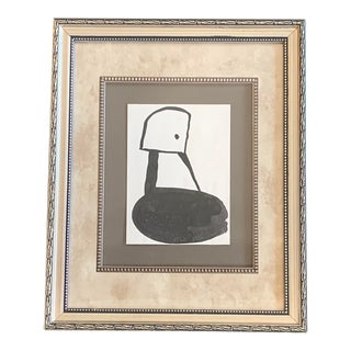 Original Vintage Robert Cooke Abstract Duck Painting , 1970's For Sale
