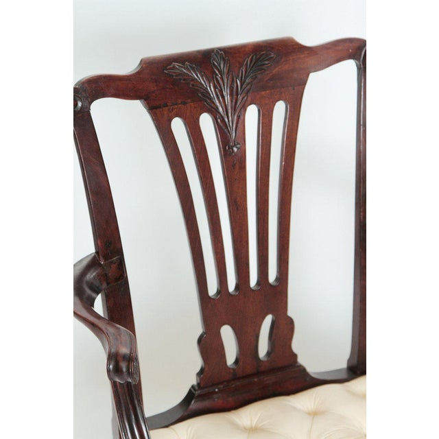 Late 18th Century Chippendale Mahogany Armchair For Sale - Image 10 of 13