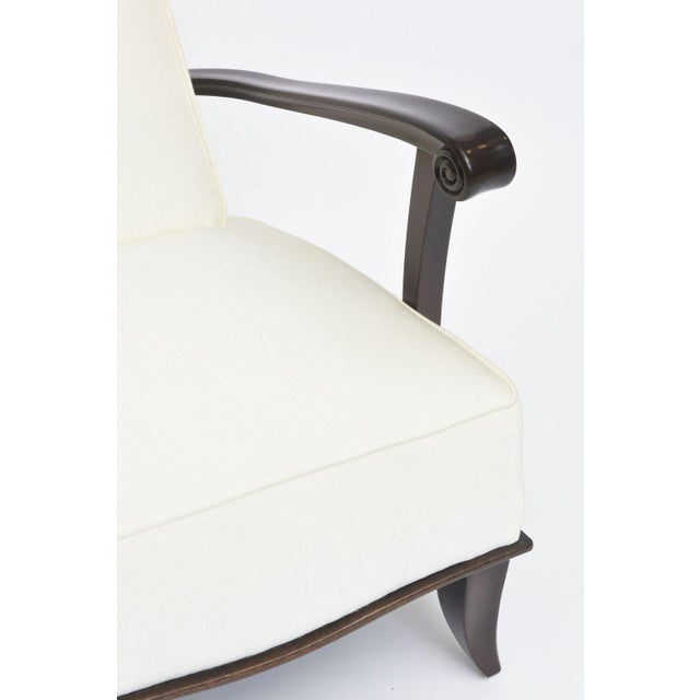 Jean Pascaud Pair of French Modern Rosewood and Upholstered Armchairs, 1940s For Sale In Miami - Image 6 of 11
