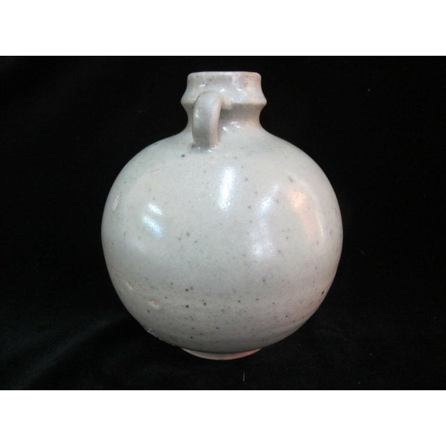 Chinese Antique Chinese Celadon Globular Pot With Double Loop Handles For Sale - Image 3 of 7